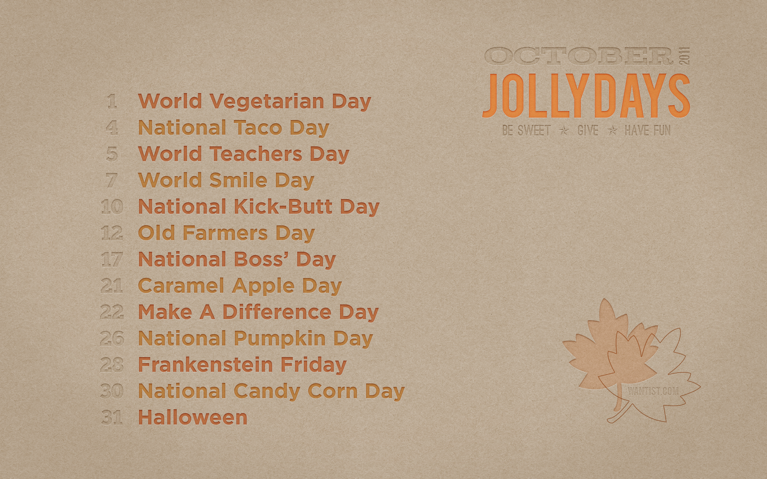 Great Wallpaper Halloween Macbook Air - wantist-jollydays-oct-2011-2560_1600  Graphic_661094.png